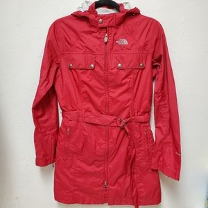 The North Face HyVent DT Trench Rain Coat Red Belt